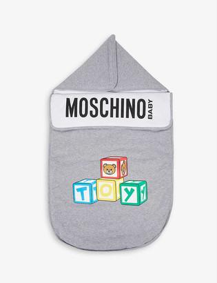 Moschino Toy-print cotton baby nest