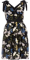 Adrianna Papell V Neck Floral Cocktail Dress