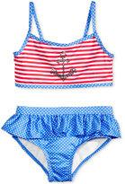 Penelope Mack 2-Pc. Anchor Striped Bikini Swimsuit, Toddler Girls (2T-5T) & Little Girls (2-6X)