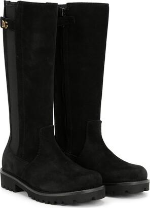 Dolce & Gabbana Round Toe Tall Boots