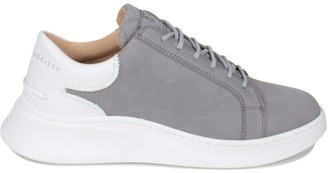 Crafted Society Matteo Low Sneaker - Grey Nubuck & White Full Grain Leather / White Outsole
