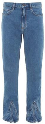 Y/Project Cowboy Bootcut Jeans - Mens - Blue