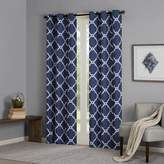 "E and E Co., LTD. Madison Park Essentials Merritt Fretwork Panel Curtain Pair - Navy - 42"" x 63"""