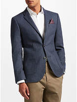 John Lewis Donegal Tailored Jacket, Navy