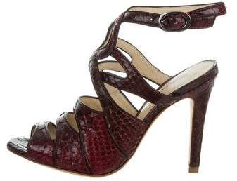 Alexandre Birman Python Cage Sandals w/ Tags