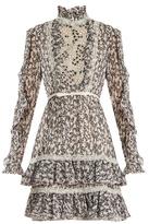 Giambattista Valli Floral-print ruffled silk-georgette dress