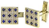 Effy Jewelry Gento Yellow Gold Blue Sapphire & Diamond Cuff Links