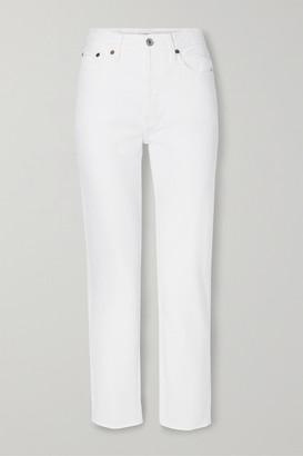 RE/DONE Originals Stove Pipe High-rise Straight-leg Jeans - White