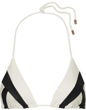 Vix Paula Hermanny Wave Printed Triangle Bikini Top