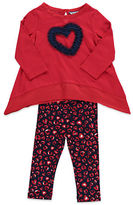 Hartstrings Baby Girls 2-Piece Heart Tunic And Leggings Set