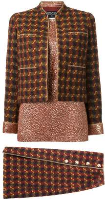 Chanel Pre-Owned three piece skirt suit