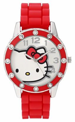 Hello Kitty Girls' Analog Quartz Watch with Plastic Strap