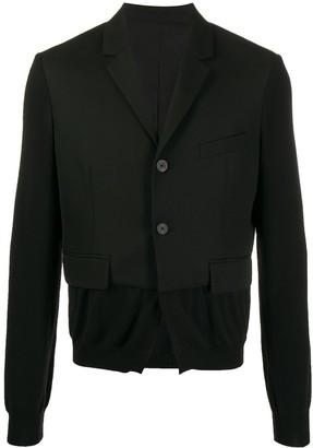 Haider Ackermann Knitted Sleeve Blazer