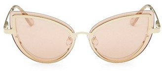 Le Specs Luxe Adulation Gold Cat Eye Sunglasses