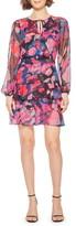 Parker Marengo Long Sleeve Silk Minidress