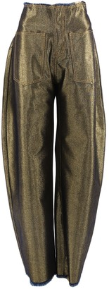 Marques Almeida Gold Cotton Trousers