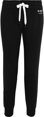 DKNY Embroidered French Cotton-blend Terry Track Pants