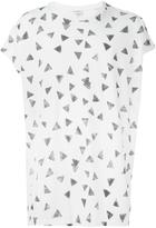 Saint Laurent triangle print oversized T-shirt