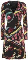 Etro Printed wool midi dress