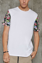 Forever 21 FOREVER 21+ Tropical Floral Sleeve Tee