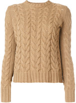 Max Mara cable-knit jumper - women - Cashmere/Virgin Wool - M