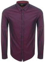 BOSS GREEN C Baldasar Long Sleeve Shirt Red