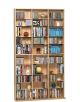 Atlantic Oskar Media Cabinet 1080 CD or 504 DVD or Blu-Ray or Games in Maple