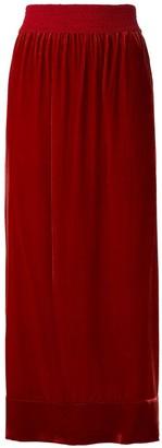 LE SOLEIL D'ETE Belinda velvet midi skirt