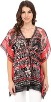 Adrianna Papell Women's Placement Print Caftan Top