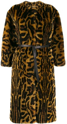 Givenchy Leopard Print Faux Fur Coat