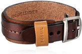 Fossil Men's Stitched Leather Brown Bracelet