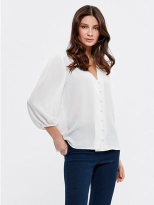 M&Co Button front blouse