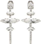 Miu Miu Silver Crystal Hoop Clip-On Earrings
