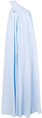 Lanvin one shoulder flared dress