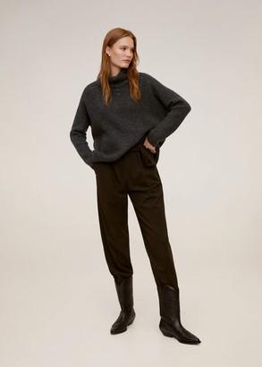MANGO Cowl neck sweater charcoal - M - Women
