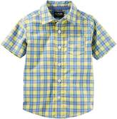 Osh Kosh Oshkosh Bgosh Toddler Boy Plaid Button Down Shirt