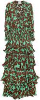 Johanna Ortiz Tribal Print Silk Maxi Dress