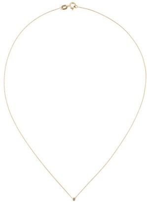 Wouters & Hendrix Gold Single Champagne Diamond Short Necklace