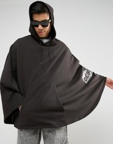 Asos FESTIVAL Jersey Poncho With Side Print