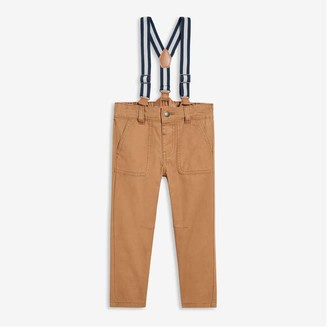 Joe Fresh Toddler Boys' Suspender Pants, Camel (Size 2)