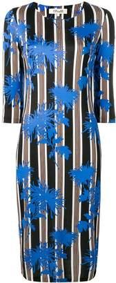 Diane von Furstenberg floral print striped dress