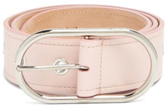 Acne Studios Masculine Large Logo-buckle Leather Belt - Womens - Light Pink
