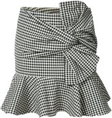 Veronica Beard gingham ruffle miniskirt