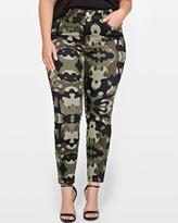 Addition Elle L&L Khaki Camo Print Denim