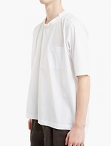 Comme Des Garcons Shirt Boys White Woven-cotton Oversized T-shirt