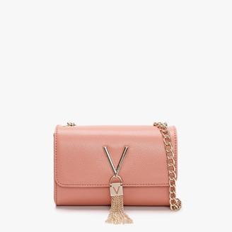 Valentino By Mario Valentino Divina Pink Pebbled Shoulder Bag