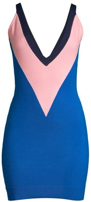 Victor Glemaud Sleeveless Colorblock Wool Dress