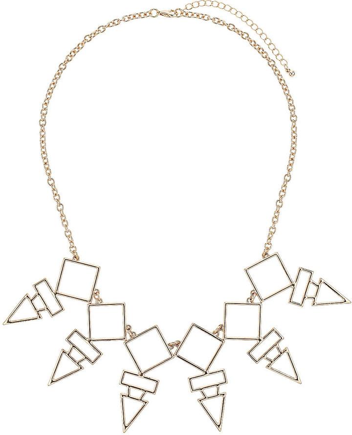 Topshop Geometric Cut Out Drop Necklace