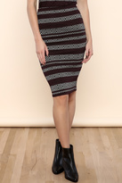 Necessary Objects Stripe Bodycon Skirt