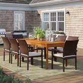 Sol 72 Outdoor Brighton 9 Piece Dining Set with Cushions Sol 72 Outdoor